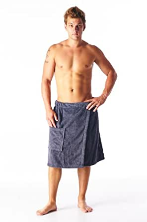 High style men 100 turkish terry cotton spa - Bath wraps bathroom remodeling reviews ...