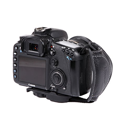 Micnova MQ-GS8 Genuine Leather Grip/Hand Strap for DSLR Cameras (Tripod Mount Attachment) {Style# 8}