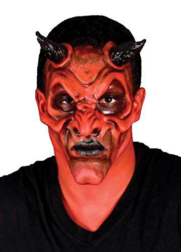 Woochie by Cinema Secrets Devil Face Latex Appliance, Multi, One Size (Devil Face Halloween)