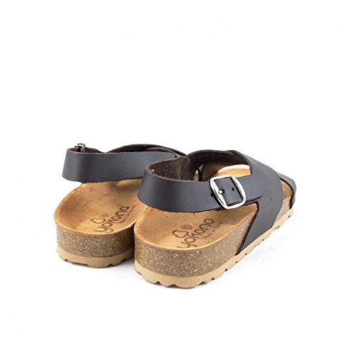 Yokono Mabul Brun Stropp 032 Sandal Rygg Flat Med Mørk rrfwxq