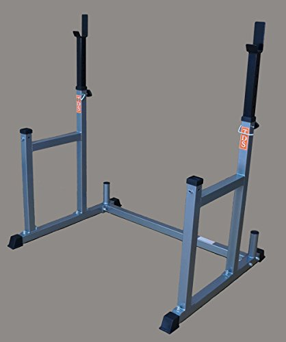 Squat & Bench Rack by NYB - metalic silver finish by TDS