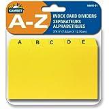 Index Cards Dividers, separateurs alphabetiques