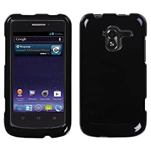 MYBAT Solid Black Phone Protector Cover for ZTE N9120 (Avid 4G)