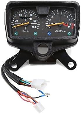 Sourcingmap para CG Moto 0-11000R/Min Reloj Doble Digital Odómetro Tacómetro Velocímetro