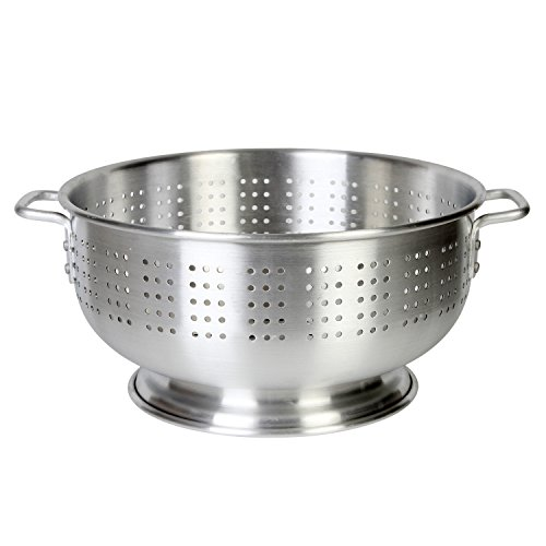 Excellante Aluminum Colander with Handle, Heavy Duty,12 quart, 1.8 mm by Excellante