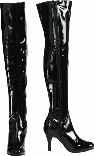 Secret Wishes Thigh-High Boots With Stiletto Heels, Black...