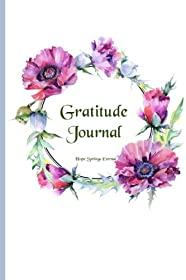 Gratitude Journal: Gorgeous full color Floral Theme illustrated Thankfulness Journal - Plush Peony (Illustrated Writing Prompts Gratitude Journal Paperback) (Volume 4)