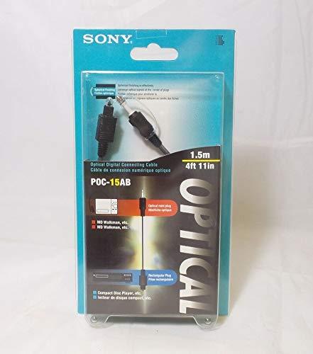 Sony Optical Digital Cable - Sony POC-15AB Optical Digital Connecting Cable - Optical Rectangular Plug to Optical Mini Plug