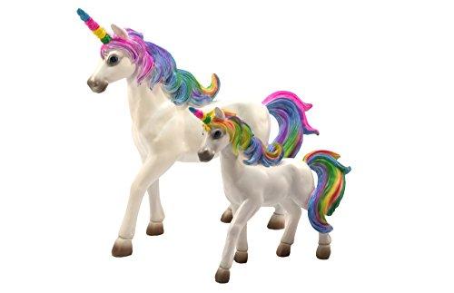 Glitzglam Rainbow Unicorn Set Mother Unicorn Alana And Daughter Unicorn Penelope Miniatures Unicorn Figurines For Your Fairy Garden