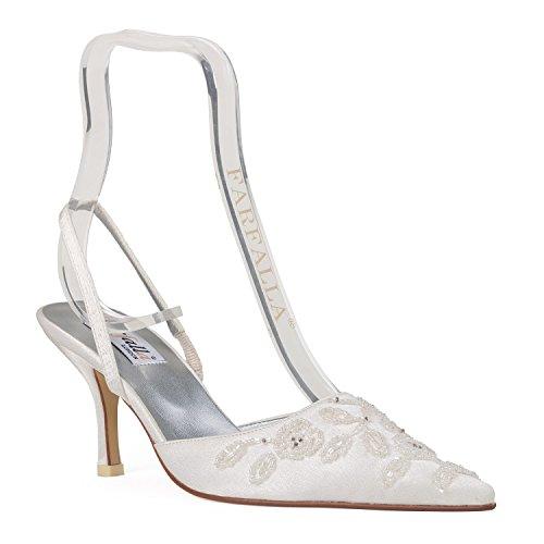 FARFALLA zapatos de lujo marfil