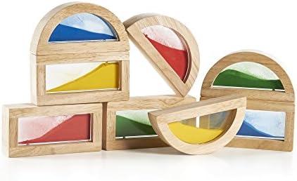 Guidecraft- Rainbow Blocks Sand, Multicolor (1)