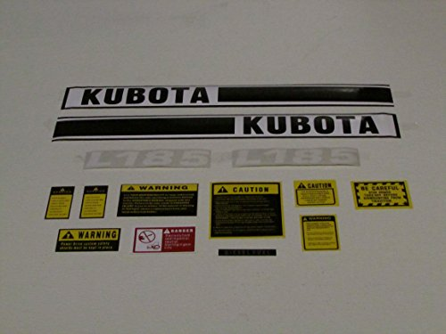 Kuboto Tractor L185 Decal Set with Caution Kit (Decal Set Tractor)