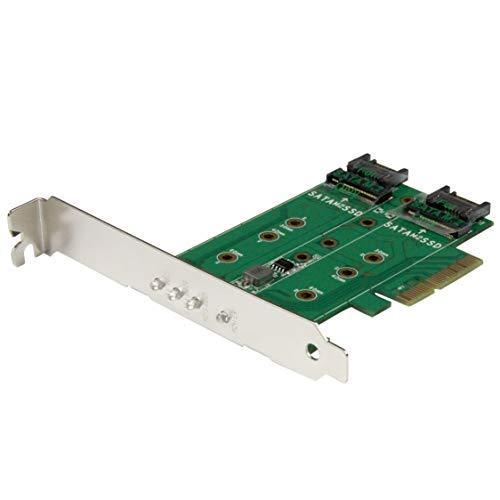 StarTech.com 3-port M.2 SSD (NGFF) Adapter Card - Supports 1x PCIe (NVMe) M.2 SSD, 2x SATA III M.2 SSDs - PCIe 3.0 Adapter (PEXM2SAT32N1)