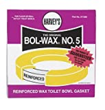 wax toilet ring - LASCO 04-3322 Toilet Bowl Wax Ring with Urethane Core and Extra Thick Wax