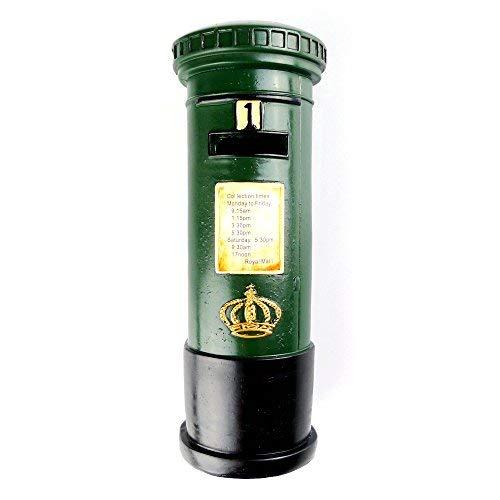 (Chadstone Retro Resin Post Box Ornament British Royal Mailbox Piggy Bank Saving Box Coin Case)