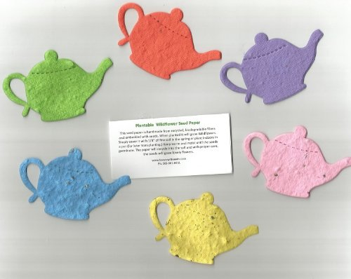 12 Medium Plantable Teapot Seed Shapes in a Bag