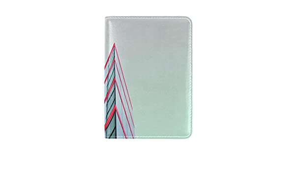 Minimalism Building Architecture Leather Passport Holder Cover Case Travel One Pocket