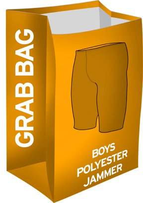 (TYR Boys Grab Bag Polyester Jammer Swimsuits, Assorted - 24)