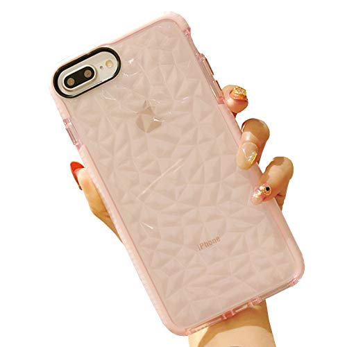 iPhone 8 Plus Case, iPhone 7 Plus Case, KERZZIL Clear TPU Case Cover Drop Protection Designed Air Cushion Technology Compatible for Apple iPhone 8 Plus/iPhone 7 Plus - Pink