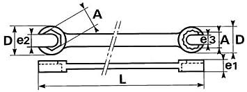 SAM Outillage 104-H-8x10 Cl/é polygonale /à/ tuyauter 6 pans de 8 x 10 mm