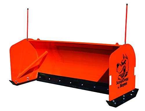 Buyers Products 2603108 ScoopDogg Skid Steer Snow Pusher, 8 Foot Wide, Orange (Best Skid Steer Snow Plow)