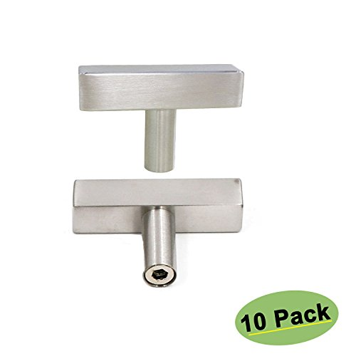 - Small Wine Cabinet Door Knobs Brushed Nickel - Homdiy HD1212BSS 10Pack Single T Knob with 2inch Overall Length Square Kitchen Cabinet Hardware Knobs Desk Dresser Drawer Knobs Stainless Steel