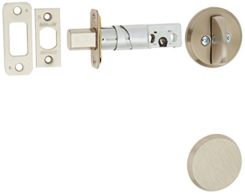 Schlage B81619 Satin Nickel Single Sided Residential Deadbolt with Thumbturn and Outside Trim Plate from The B-Series (Nickel Single Residential Satin)