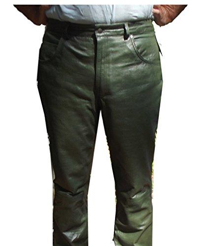CD D C Mens Alligator Embossed Sheepskin Leather 5 Pocket Style Pants Green 36 (Embossed Leather Pants)