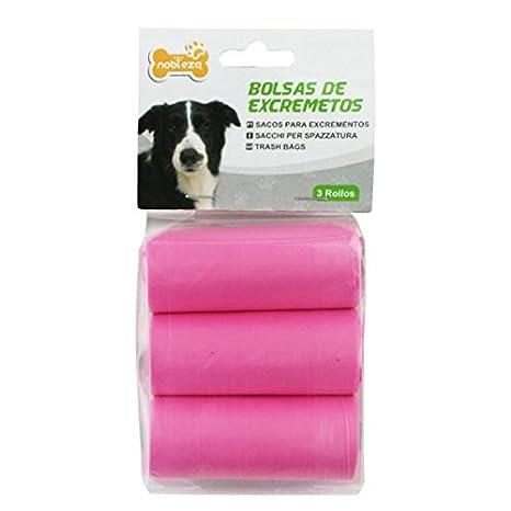 Bolsas para recoger excrementos de perro Nobleza, 3 rollos ...