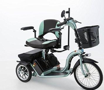 フランスベッドハンドル型三輪電動車いすS637スマートパル グリーン B01E4TVMMW