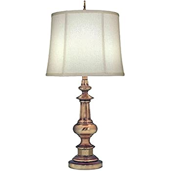 Stiffel tl n6561 ab one light table lamp antique nickel finish with ivory shadow shade