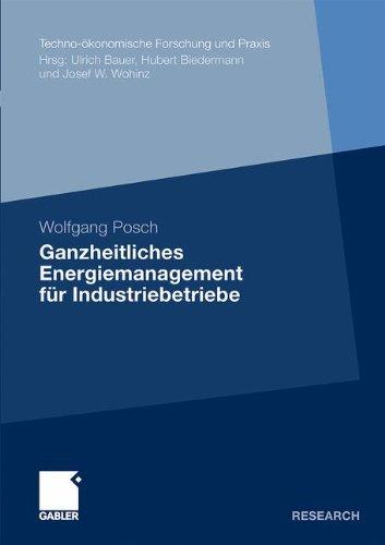Ganzheitliches Energiemanagement für Industriebetriebe (Techno-ökonomische Forschung und Praxis) (German Edition)