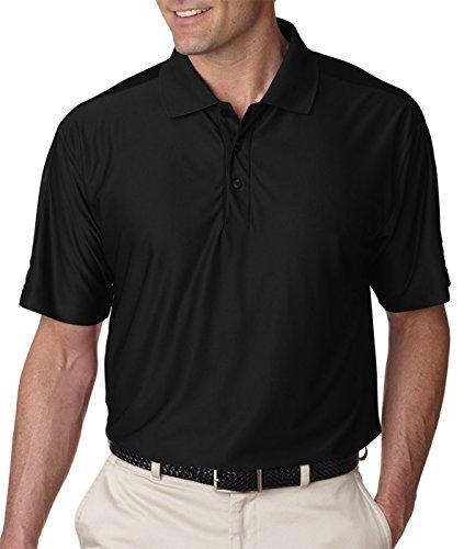 UltraClub Men's Cool & Dry Elite Performance Polo Shirt, Black, - Elite The Shirt