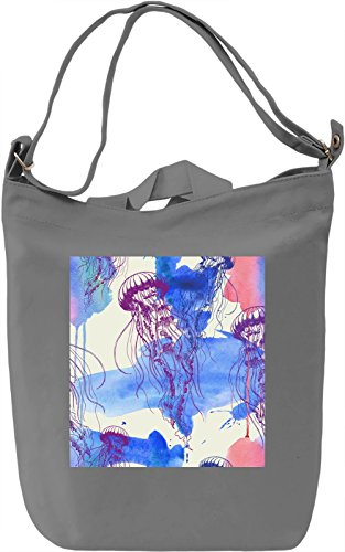 Jellyfish Pattern Borsa Giornaliera Canvas Canvas Day Bag| 100% Premium Cotton Canvas| DTG Printing|