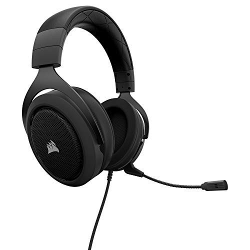 CORSAIR HS60 – 7.1 Virtual Surround Sound PC Gaming Headset w/USB DAC - Discord Headphones – Compatible with Xbox One, PS4, and Nintendo Switch – Carbon (Renewed)