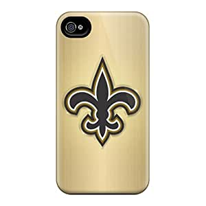 Scratch Resistant Hard Phone Covers For Iphone 6 With Provide Private Custom Lifelike New Orleans Saints Skin MansourMurray
