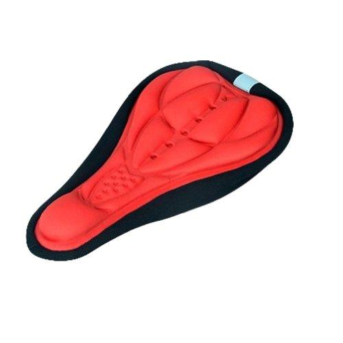 3D-Solid-Bike Sitzkissen Comfort Fahrrad-Sitzkissenbezug (rot)