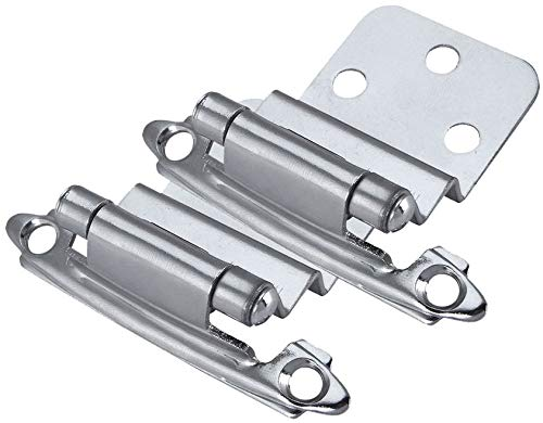 Chrome Hinges Cabinet (10 Pair Pack - Cosmas 17128-CH Polished Chrome Cabinet Hardware Hinges 3/8
