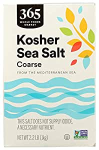 365 Everyday Value, Kosher Sea Salt, Coarse, 2.2 lb