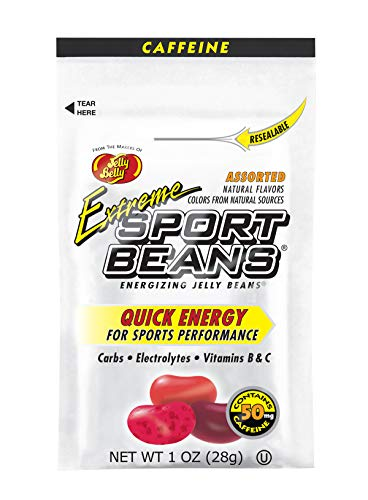 Jelly Belly Extreme Sport Beans, Caffeinated Jelly Beans, Assorted Flavors, 24 Pack, 1-oz Each