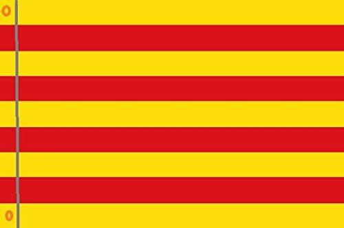 DURABOL Bandera de Cataluña flag 90x150cm SATIN 2 anillas metálicas fijadas en el dobladillo: Amazon.es: Jardín