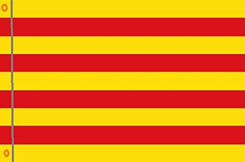 DURABOL Bandera de Catalu/ña flag 90x150cm SATIN 2 anillas met/álicas fijadas en el dobladillo