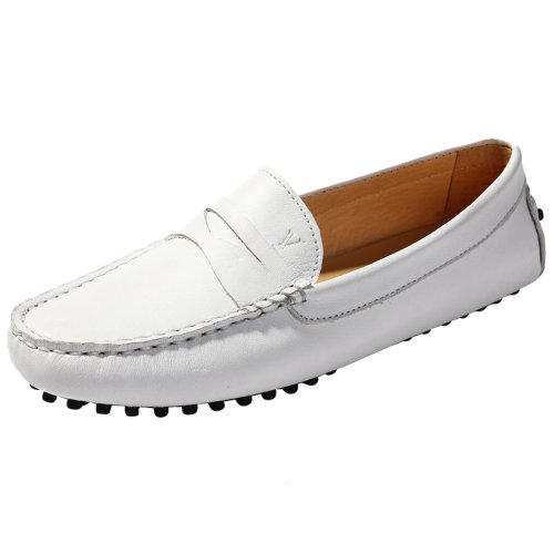 AUSLAND Women's Loafers, Casual Flats, Slip-on Shoes White