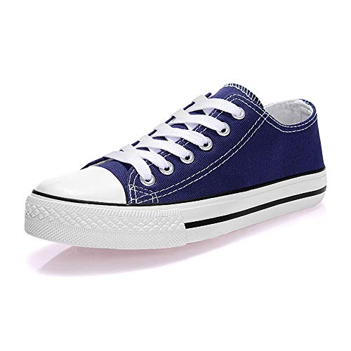 Canvas Sneaker Lace Up Fashion Shoes Low Top Casual Cap Toe Sneaker Flat Classic Comfortable Walking Shoes for Women