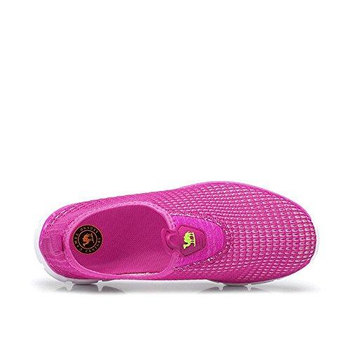 Scarpe Da Corsa In Mesh Slip-on Quick Dry Traspirante Leggero Cammello, Camminata, Beach Aqua, Outdoor, Esercizio, Sneaker Atletico Rosso