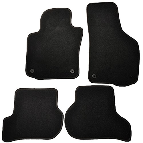 Floor Mats Fits 2006-2009 VOLKSWAGEN GOLF RABBIT GTI | Nylon Black Front Rear Carpet by IKON MOTORSPORTS | 2007 2008 ()