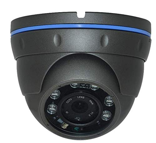 Urban Security Group 8MP Ultra 4K Black Dome Camera : 3840×2160 Resolution Over BNC Coax Cable, 2.8-12mm Vari-Focal Lens, IR LEDs : Business Grade : HD-TVI + HD-CVI + AHD