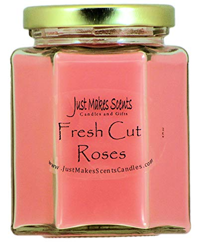 Just Makes Scents Fresh Cut Roses Scented Blended Soy Candle