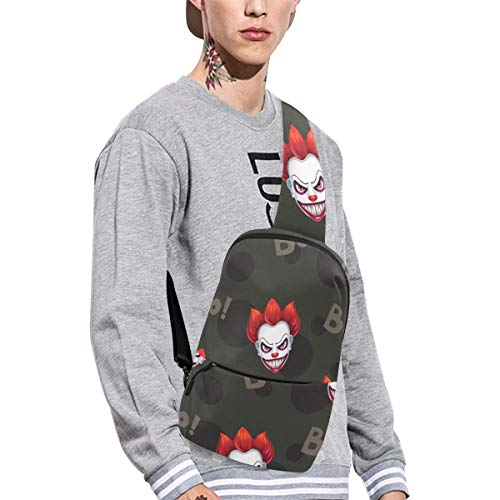 Sling Shoulder Bag Fashion Clown Spanish Culture Mexican Festival Skull Art Design Retro Flower Crossbody Bag Daily Sports Climbing Or Multi-purpose Backpack Men And Women Ladies And Teens
