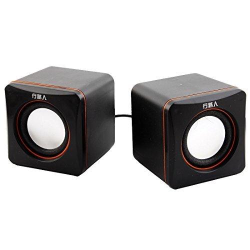 EbuyChX Plastic Shell USB Pinapagana Stereo Computer Laptop MP3 MP4 Mini Multimedia Tagapagsalita Player Sound Box Pares Black ()
